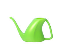 Green Plastic Watering Can Royalty Free Stock Images