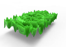 Green plastic waves Stock Image