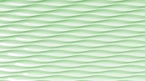 Green plastic wavy lines. 3D rendering. Green plastic wavy lines, 3D rendering Stock Images