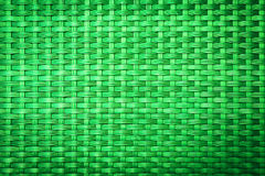 Green Plastic weave pattern for background Stock Image