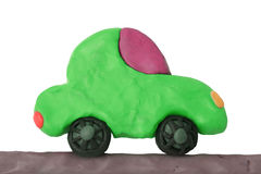 Green plasticine car Stock Image