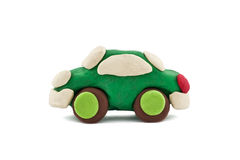Green plasticine car Stock Photography