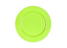 Green plate Stock Photos