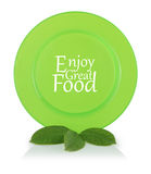 Green plate Royalty Free Stock Photo