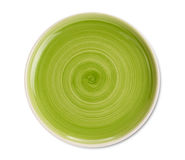 Green plate Stock Image