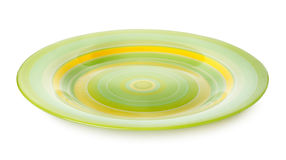 Green plate isolated Royalty Free Stock Images