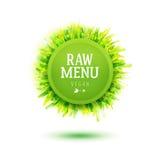 Green plate for Raw vegan menu Stock Images
