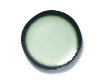 Green Plate on white background top view Royalty Free Stock Image