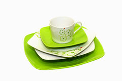 Green plates Stock Image