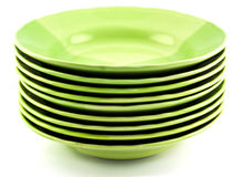 Green plates Stock Photography
