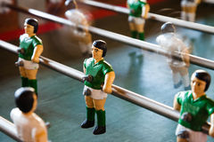 Green player on Table Football game Stock Photography