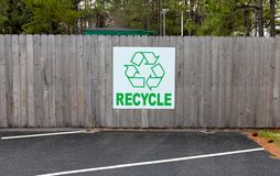 Green Please Recycle Sign Royalty Free Stock Images