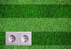 Green plug Royalty Free Stock Photo