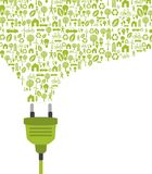 Green plug Royalty Free Stock Photos