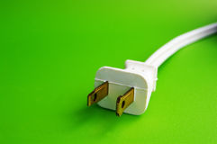 Green plug Stock Image