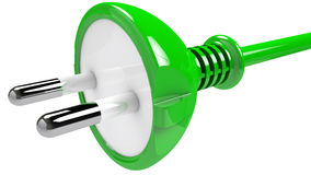 Green plug Stock Photos