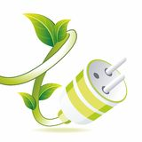 Green plug Stock Photography