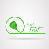 Green plug logo Stock Photos