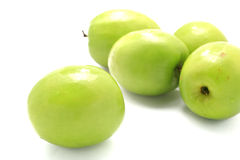 Green plum Royalty Free Stock Images