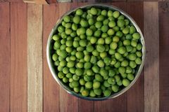 Green plum on wood board Royalty Free Stock Photography