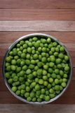 Green plum on wood board Royalty Free Stock Photos