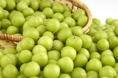 Green plums Royalty Free Stock Photos