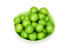 Green plums isolated. On the white background Royalty Free Stock Image