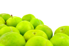 Green plums Royalty Free Stock Photography