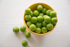 Green plums Royalty Free Stock Photo