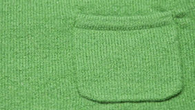 Green Pocket on a Sweater Royalty Free Stock Photography