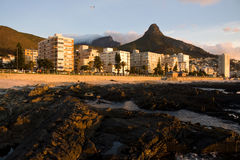 Green Point, Sea Point with Lions head, Cape Town South Africa.  Stock Images