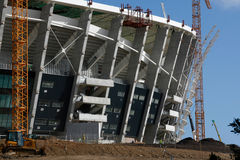 Green Point Stadium Construction stock image