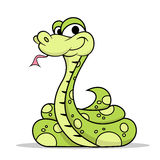 Green Poison Snake. With dots pattern Stock Image
