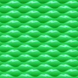 Green poisoned water waves seamless vector texture or pattern Stock Photography