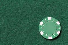 Green poker chip Stock Photos