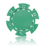 Green poker chip Royalty Free Stock Photo