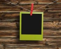 Green polaroid frame Royalty Free Stock Image