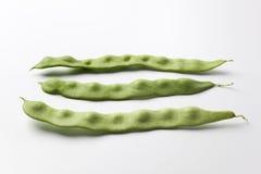 Green pole beans Royalty Free Stock Photos