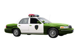 Green Police Car Royalty Free Stock Photo