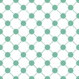 Green Polka dot Chess Board Grid White Christmas Background. Stock Images