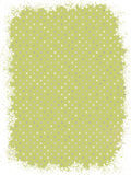 Green polka dot design with snowflakes. EPS 8 Royalty Free Stock Photography