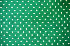 Green polka dot fabric Royalty Free Stock Image