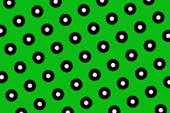 Green polka dots background Royalty Free Stock Photo