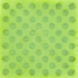 Green Polka Dots Pattern. Handmade shabby big green Polka Dots pattern on crumpled paper Stock Illustration