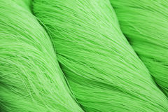 Green polyester rope Stock Image