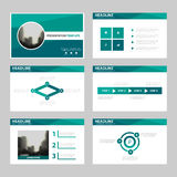 Green polygon presentation templates, Infographic elements template flat design set for annual report brochure flyer leaflet Royalty Free Stock Image