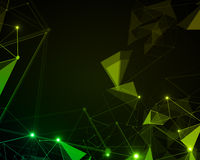 Green polygonal background Stock Photo