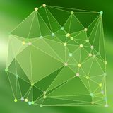 Modern abstract background triangles 3d effect glowing light61. Green polygonal image, which consist triangle. Triangular pattern for business design. Geometric Stock Images