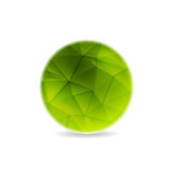 Green polygonal round sphere design Royalty Free Stock Images