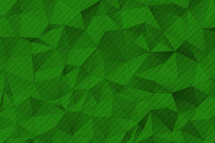 Green Polygonal Surface Stock Image